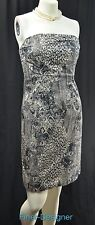 The LIMITED mini Dress reptile animal print exposed zip strapless sexy SZ S NEW