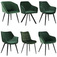 Esszimmerstuhl Küchenstühle Wohnzimmerstuhl Stuhl aus Samt flauschig Grün #1599