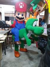 Mario with Yoshi Videogame Mascot Costume Party Character Halloween Cosplay