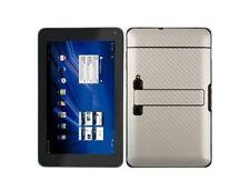 Skinomi Silver Carbon Fiber Skin + Screen Protector for LG Optimus Pad