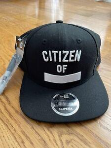 New Era 9Fifty Flat Bill Citizen Of With New Era Sharpie Marker Snapback Hat NWT