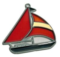 """Stained Glass Sun Catcher Sailboat 3-1/8""""T x 2-7/8"""""""