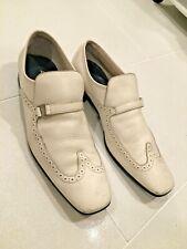 Salvatore Ferragamo White Leather Loafer Size 11 Mens Designer