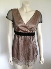 Katies Black & Gold Stunning Baby Doll, Evening, Occasion Blouse Ladies Size 12