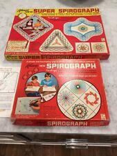 2 Vintage KENNER SPIROGRAPH No. 401 + 2400 Original Box Booklet Sets