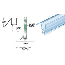"CRL Clear Co-Extruded Bottom Wipe With Drip Rail for 1/4"" Glass 3 PACK 32 5/8"""