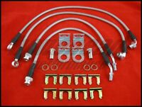 DISC Techna-Fit Stainless 4 Brake Lines Kit Blue for 1994-99 Dodge NEON R