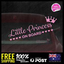 Little Princess on Board 195x60mm Window Funny Decal Vinyl Sticker Baby Girl