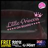 Little Princess on Board 195x60mm Window Funny Decal Vinyl Sticker Baby Girl