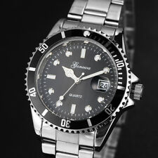 Mens Watch Fashion Military Stainless-Steel Date Sport Quartz Analog Wrist Watch