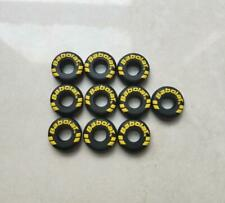 Round Babolat Black Custom Damp tennis vibration dampener shock absorber 10Pcs