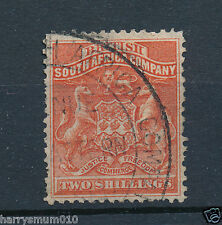 Rhodesia 1892 BSAC stamp 2/- Two Shillings used Mounted  . RA