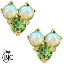 Echte Ohrschmuck im Cluster-Stil Opal-Butterfly-Verschluss