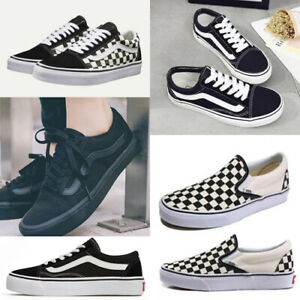 UK Casual Womens Canvas Van Lace-up Mens Trainers Old Skool Skate Sneakers Shoes