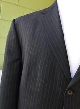 ALFANI Black Stripped Blazer Sport Coat Jacket Size 44R Suit Set