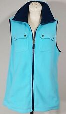 CHAPS Womens Fleece Gilet Size L/Large Blue Colorway Polyester