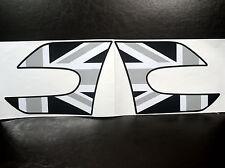 Mini Cooper F55  F56 Grey Union Jack Sticker Vinyl Car Fender Side Wing Decal