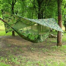 Outdoor Automatic Quick Open Mosquito Net Hammock Tent With Waterproof Canopy On