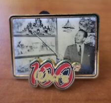 Vintage Disney Pin Walt's 100th Birthday Photo Disneyland Cinderella's Castle LE