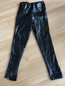 BNWOT, Ladies Black Leather Look Leggings, PRETTYLITTLETHING, Size 14
