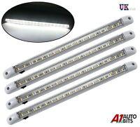 4 X 12V 18 LED WHITE CAR VAN VEHICLE AUTO INTERIOR CEILING DOME ROOF LIGHT LAMP