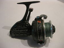 Shakespeare Model 2210 Ii Fishing Reel with wood handle knob Made in Japan Rare