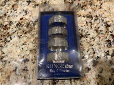 New listing Konge Tinn Royal Pewter Viking Norway Round Napkin Rings Set (4) Free Shipping