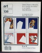 Art press 138 Hopper Art et langage des médias McCollum Meschonnic EX