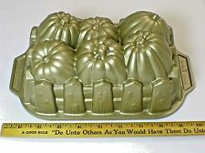 Nordic Ware Pumpkin Harvest Loaf Pan Bread Cake Cast Aluminum Baking Mold 6 Cup