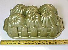 Nordic Ware Pumpkin Harvest Loaf Pan Bread Cake Cast Aluminum Baking Mold 6 Cup