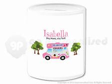 Personalised Gift Ice Cream Van Money Box Cone Scoop Driver Vendor Present #2