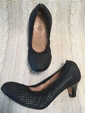 Anyi Lu Shoes 36 Black Houndstooth Ballet Heels Stretch Fit Perfect