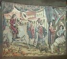 Vintage Tapestry SPANISH STREET SCENE theme RARING HORSE  Men Women Made ITALY