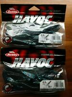 "Lot of 16 ct Berkley 4.5"" Havoc Black Blue Fleck Change Up"