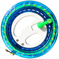 NEW Outdoor Kite Ballbearing Reel Line Winder Grip Wheel with Flying Line BLUE