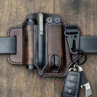 Multitool Leather Sheath EDC Pocket Organizer for men belt with Key Holder~~