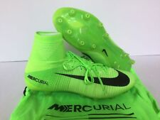 NIKE MERCURIAL SUPERFLY V AG-PRO SOCCER CLEATS SZ 10.5 ELECTRIC GREEN 852511-001