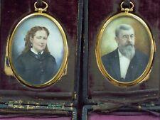 Colorized Photos 1840's Vintage with  original boxes
