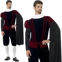 Mens Tudor Lord Fancy Dress Costume Historical Gent Blackadder Outfit by Smiffys