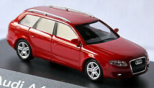 Audi A4 B7 Avant 3,2 quattro 2004-08 in PC-Vitrine Display-Box rouge brillant 1: