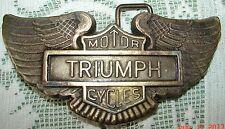 TRIUMPH MOTOR CYCLE BELT BUCKLE