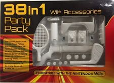 Nintendo Wii Party Pack 38 in 1 Accessories Kit w/Gun, Golf Club & Wheel New!