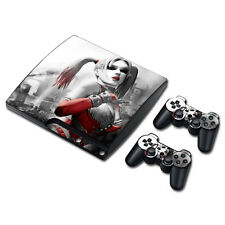 PS3 Slim Playstation 3 Console Skin Decal Sticker Harley Quinn Custom Design Set