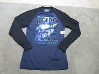 NEW ACDC About To Rock Concert Shirt Adult Medium Blue Rock N Roll Band Tour
