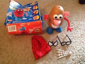 2006 Mr Potato Head Spider Spud + 2007 The Amazing Spiderman kellytoys