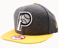 Indiana Pacers New Era 9FIFTY Shader Melton Wool NBA Basketball Snapback Cap Hat