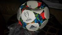 Adidas Performance 2015 Finale Berlin Sala Ball, White/SolarBlue/Flash Green NEW