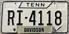 GENUINE Tennessee Davidson County  USA License Licence  Number Plate RI 4118