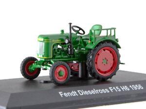 Fendt Dieselross F15 H6 Green Farm tractor Model 1956 Year 1:43 Scale HACHETTE