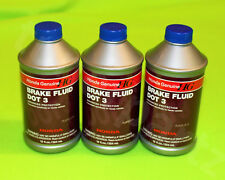 3 x NEW GENUINE OEM HONDA BRAKE DOT 3 FLUID OIL 12oz Fluid BOTTLE FOR ALL HONDA